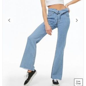 Forever 21 fold over jeans